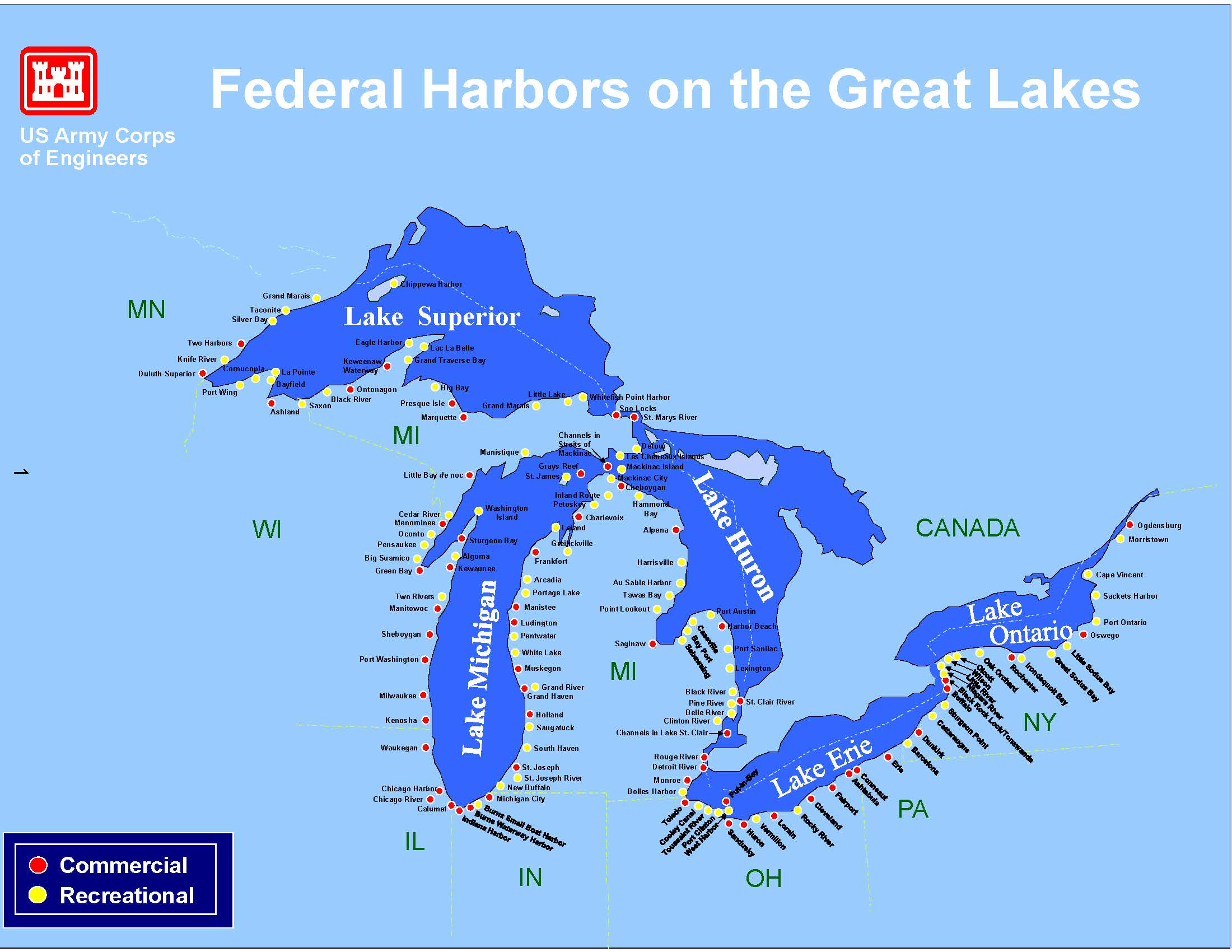 Map Great Lakes Stock Vector  Shutterstock Map Details - Los angeles navigation map