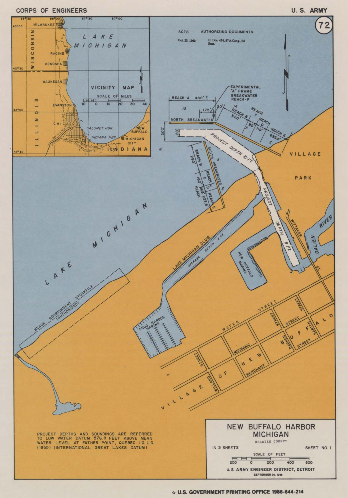 New Buffalo Michigan Map.New Buffalo Harbor The Harbor Of Harbor Country City Of New