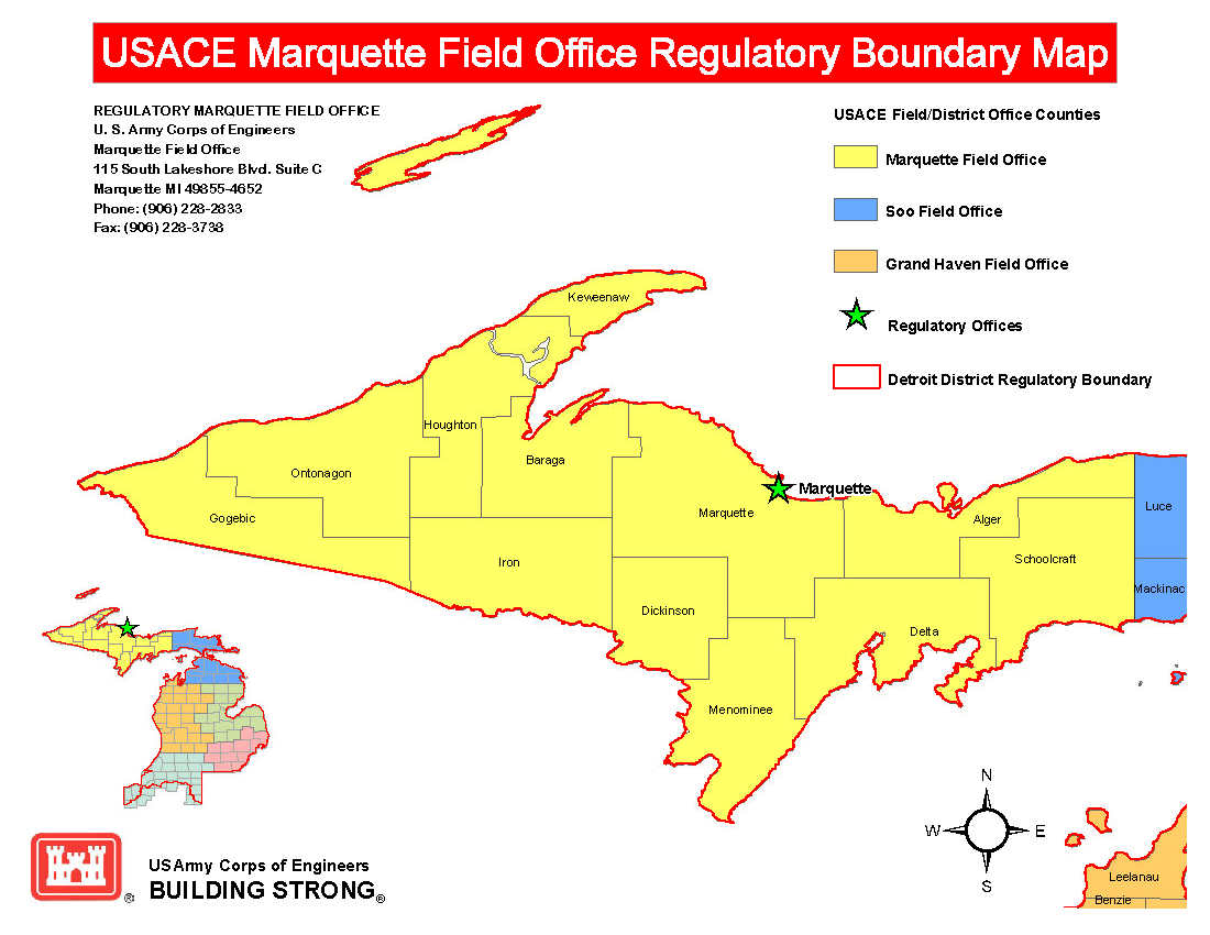 Marquette Office Map